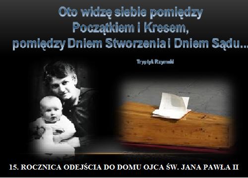 15. Rocznica odejścia do Domu Ojca Jana Pawła II